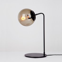 Table Lamp Suppliers: Creative The Magic Bean Table Lamp Iron Desk Lamp Black Table Lamp Northern  Europe Style Drawing,Lighting