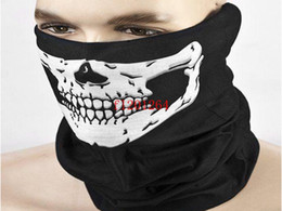 Free Shipping Fashion Skull Design Multi Function Bandana Motorcycle Biker Face Mask Neck Tube Scarf,100pcs/lot