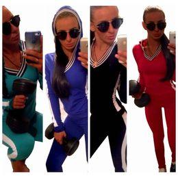 Wholesale Spring Autumn Hoodies Tracksuits Fashion Sport Suit for Women Piece Set Casual Brand Sportswear Sweatshirt Pants Sport Suit Jogging Femme