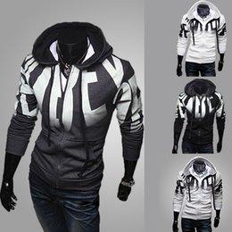 Wholesale 2014 Autumn Spring Zipper Hoodies Sweatshrit Casual Slim Fit Men s Quality Jacket Fashion Leisure Sports Coat Colors Plus Size M XL