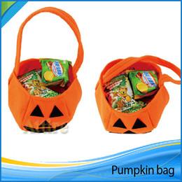 Wholesale Halloween Woven Pumpkin Bag Children Solid Handbag Candy Basket Cosplay Makeup Party Performance Props Clothing Accessories