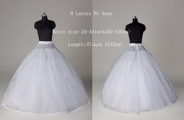 Wholesale 2015 New Arrival White No Hoop Layers Luxurious Empire Wedding dresses Petticoat Crinoline Underskirt For Bridal Accessories