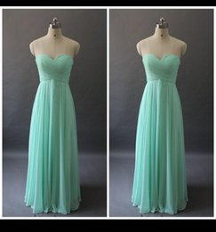 Wholesale Real Picture Lime Green Bridesmaid Dress Long Sweetheart Ruched A Line Column Cheap Chiffon Wedding Party Evening Formal Dress Prom Gown QM
