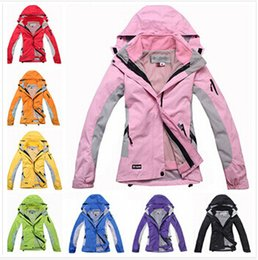 Wholesale 2015 new brand fashion women s Jackets outdoor sports ski suit warm waterproof two piece set tops ski wear coat camping hiking jackets