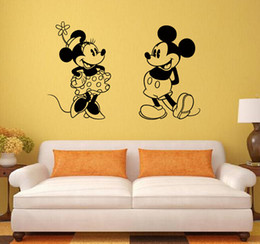 Mickey Mouse And Minnie Mouse Donald Duck Removable Decal Home Decor Vinyl Decal Cartoon Outline Sketch Baby Room Wall Sticker