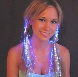 Flash Night Lights Braid Luminous Light Up Hair Party Extension LED cheveux Glow par la fibre de prix Surprise Livraison gratuite par DHL