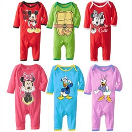Wholesale 100pcs cotton Long sleeves spring autumn baby wear Teenage Mutant Ninja Turtle baby rompers Mickey Minnie romper baby jumpsuit