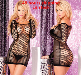 Wholesale Sexy Customes For Ladies Girls New Mesh Hollow Out Dress Lingerie Adult Women Babydoll Fishing Net Sex Underwear Jumpsuit Sleep Wear
