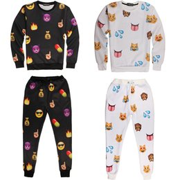 Wholesale Emoji Outfit Emoji Clothes Emoji Joggers and Sweatshirt Fashion Emoji Pants Iswag Tracksuits D Emoji Jogger Set Sport Suit Emoji Clothing