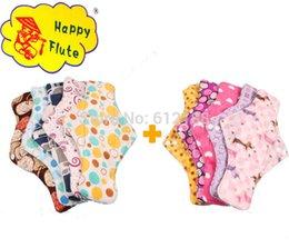 Wholesale Happy Flute sanitary napkin menstrual pads bamboo charcoal