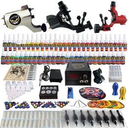 Wholesale Solong Tattoo Complete Tattoo Kit Pro Rotary Machine Guns Inks Power Supply Needle Grips TK355