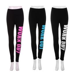 Wholesale Punk Rock Sports Leggings Women Pencil Fitness Workout Letters Print Pants Lady Gym Clothes Sportwear Leggins