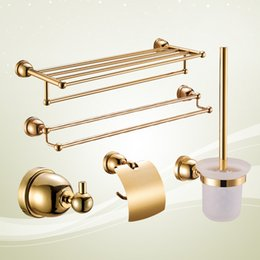 Gold Bathroom Accessories My Web Value - Metallic gold bathroom accessories