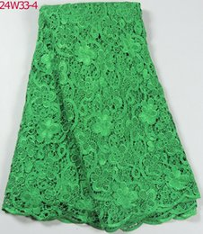 Wholesale water soluble lace fabric W33 african water soluble yards piece