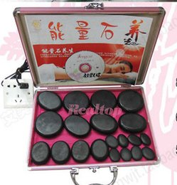 Wholesale Portable Stone Massage Real Basalt Stones pc FACE Full HEATER box Waterless