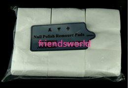 Wholesale Hot Selling Professional Lint Free Nail Wipes Soft Nail Cotton Wipe Pad Nail Art Tool