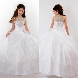 Wholesale Girls Pageant Dresses Glitz Flower Girl Dress For Weddings Little For Girls Gowns Toddler Vintage Kids Ball Gown Floor Length
