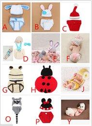 Wholesale 2pcs set Kids Hat and Cover Children s Accessories Newborn Baby Infant Handmade Animal Crochet Hat Costume Photo Photography Prop