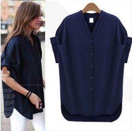 Wholesale New fashion women blouse blusas femininas plus size casual chiffon shirt women clothes tops xl xxxl xxl xl