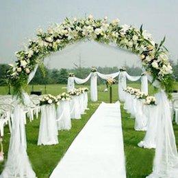 Wholesale 1000cm cm Rouleau président Décor doux Sheer bricolage Organza Tissu mariage Sash Bows Swag Table Runner Party Decoration Blanc