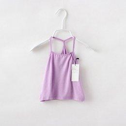 Wholesale Modal cotton condole belt vest color children s clothes Han edition M426