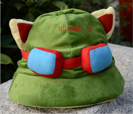 100 BBA4853 League of Legends sombrero de cosplay Teemo sombreros partido de calavera Gorras de algodón de felpa LOL gorras juguetes Juguetes lol partido suministros invierno beanie