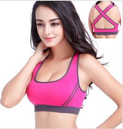 Wholesale Hot Ladies Sport Brassiere Top Sports Bra Vest Y line Shoulder Straps Fitness Training Exercises Running Yoga Bra Cup for Women S M L