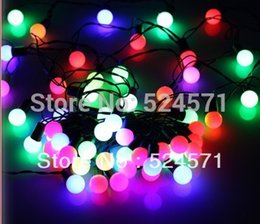 Wholesale-Free shipping2015 Christams wedding 4meters 30 led Multi-Colour  Garden Party Tree String Ball Light,waterproof supplier multi coloured  christmas
