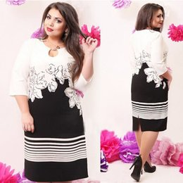 Wholesale fashionable elegant office women dresses plus size women clothing XL XL xl plus size dress casual o neck bodycon dress