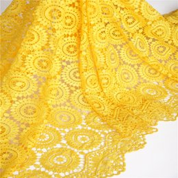 Wholesale 100 cord lace yellow embroidery design african swiss embroidery lace wedding dress fabric with freeing shipping