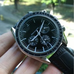 discount self winding watches men 2017 self winding watches for 2017 self winding watches men black leather strap stainless steel men s olympic professiona fashion 42m master