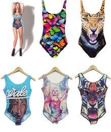 Wholesale Newest Summer d printing bikinis cover ups high waist sexy women bikini swim wear girl beachwear ladies one piece swim suit woman burkini