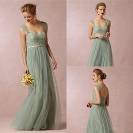 Wholesale Hot Fashion Lime Green Bridesmaid Dresses A Line Full Length Sweetheart Lace Evening Prom Party Gowns Sash Custom Made Hot Sale