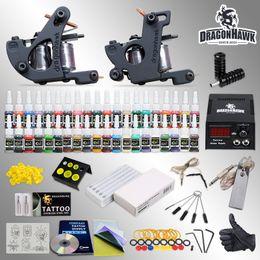 Wholesale Complete Tattoo Kit Machine Guns Ink Equipment Needles Power Supply HW GD