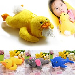 Wholesale 2015 New Fashion Baby Animal Plush toys Bottle Feeder Cute Toddler bottle Out Warm Cover Types SV016604