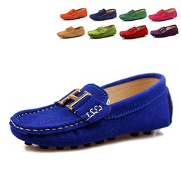 Wholesale 2015 New Fashion Unisex Children s Lazy Shoes Boys Suede Gommini Loafers Girls Shoes Moccasins Kids Shoes
