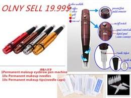 Wholesale 2SET Cheap Hight Quality Eyebrow Lip Pen MAKEUP Eyebrow tattoo machine Permanent Makeup Machine Kits WITH GIFT