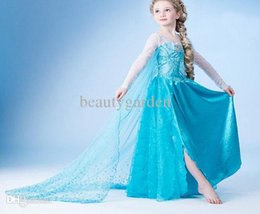 Wholesale 5pcs Children Long Skirt Sheer Cloak Princess Design Dress With Sequins Girls Role Play Party Wear cg034