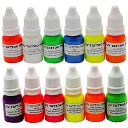 Wholesale New Colors WIZARD BLACKLIGHT UV Tattoo Ink Pigment OZ