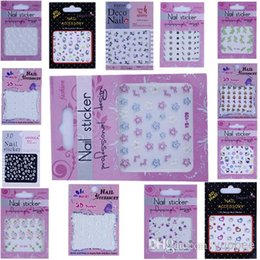 Wholesale High Quality24 D Nail Art Sticker Set Mix Design Lace Flower Heart Sex Tie Acrylic Tip Decal Decoration Fashion New