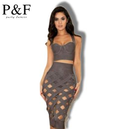 Wholesale Summer dresses Piece Set Women Bandage Dress New Fashion Summer Womens Apparel Party Sexy Bodycon Dresses