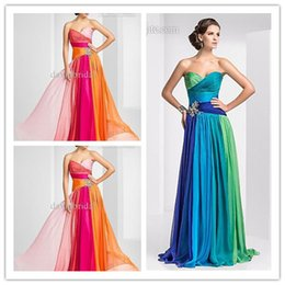 Wholesale 48 hour Shipping In Stock Colorful Long Dresses Special Occasion Dresses Sweetheart Formal Dress Prom Dresses Size