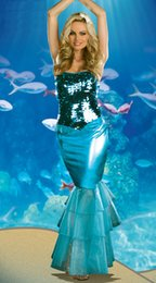 Wholesale fairy tale Elvish Shyde sexy adult mermaid costume the mermaid cosplay clothes for women