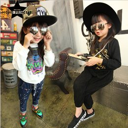 Wholesale 2015 Kids Girl Cotton Long Sleeve Tiger Hoodies Autumn Wear Clothing Children Polo Shirt Tops Colors Black White UA821