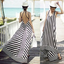 Wholesale Sexy Women Holiday Summer Boho Long Maxi Party Dress Beach Dresses