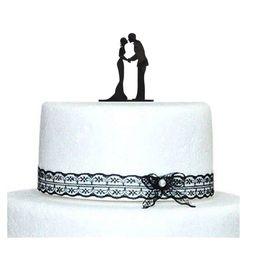 Wholesale Romance Novel wedding cake topper Acrylic Custom name cake topper Custom wedding cake topper Mr Mrs L04