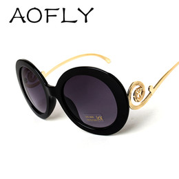 round big frame fox metal temple glasses new vintage baroque fashion summer cool sunglasses women brand designer shades s1325