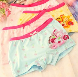 Wholesale 2015 New style sweet girls underpants cartoon cartoon printed kids short pants candy color boxers for kids five size ab2931