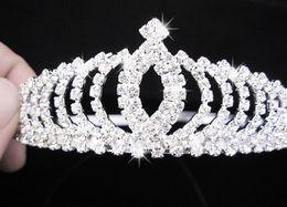 Wholesale Charming Bridal Luxuriou Bride Wearing Jewelry Extravagance Gorgeous Rhinestone Moon Tiara Crystal Jewelry LH