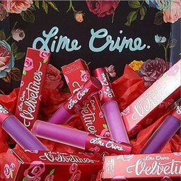 Wholesale HOT NEW Makeup Lime Crime VELVETINES Lip Gloss THE ORIGINAL LIQUID TO MATTE LIPSTICK colors by free DHL